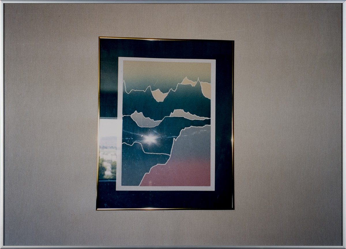 Landscape with Mountains, 2003 Chromogenic print,glass, metal frame, 50,5 x 70,5 cm