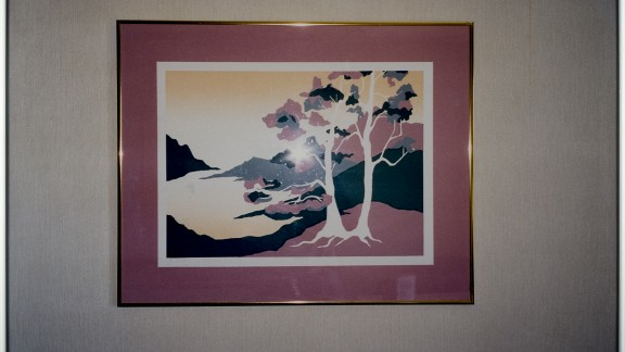 Landscape with two Trees, 2003 Chromogenic print, glass, metal frame, 50,5 x 70,5 cm