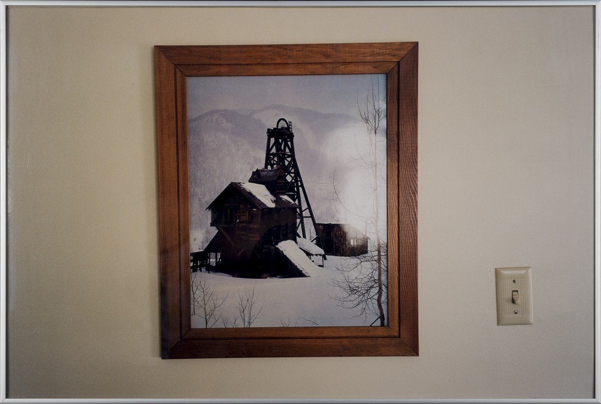 Snow Landscape with Cole Mine, 2003 Chromogenic print, glass, metal frame, 50,5 x 70,5 cm
